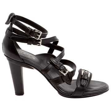 Tod's Black Leather Sandals