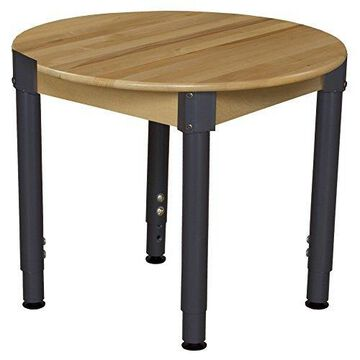 ''Wood Designs WD830A1829-30'''' Round Hardwood Table with Adjustable Legs 18''''-29''''''