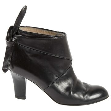 Fratelli Rossetti Black Leather Ankle boots