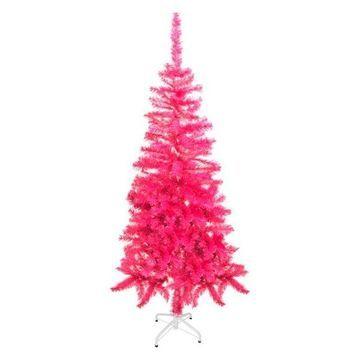 Aleko Artificial Christmas Tree, 5', Pink
