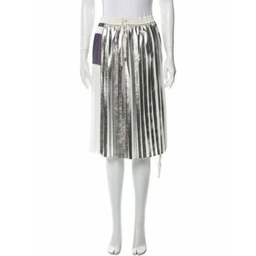 Printed Knee-Length Skirt Silver