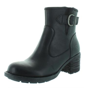 Born Womens Gunn Leather Heels Ankle Boots
