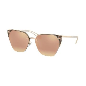 Bvlgari BV6116 20144Z 63 Rose Gold Woman Cat Eye Sunglasses