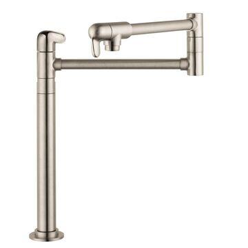 Hansgrohe HG Kitchen Steel Optik 2-Handle Deck-Mount Pot Filler Handle Kitchen Faucet