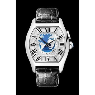 Cartier Men's W1580050 'Tortue' Black Leather Watch