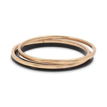 Robert Lee Morris Soho Gold-Tone 3-Pc. Set Bangle Bracelets