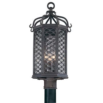 Troy Lighting Los Olivos 60-Watt 23-in Old Iron Transitional Post Light | P2375OI