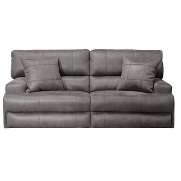 Catnapper Monaco Power Headrest Power Lay Flat Reclining Sofa