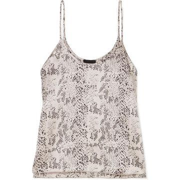 ATM Anthony Thomas Melillo - Snake-print Silk-charmeuse Camisole - Gray