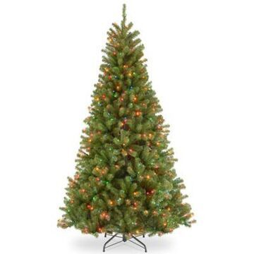 National Tree Company 6.5-Foot North Valley Spruce Pre-Lit Christmas Tree with Multicolor Lights