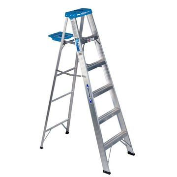 Werner 366 6 Aluminum Step Ladder Grey