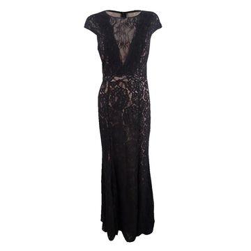 Xscape Women's Allover Lace Evening Gown