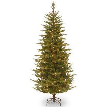National Tree Company 7-1/2-Foot Pre-Lit Feel Real Frasier Grande Fir Christmas Tree