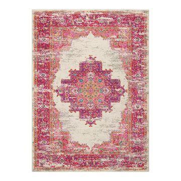 Nourison Passion Bohemian Vintage Rug, Pink, 4Ft Rnd