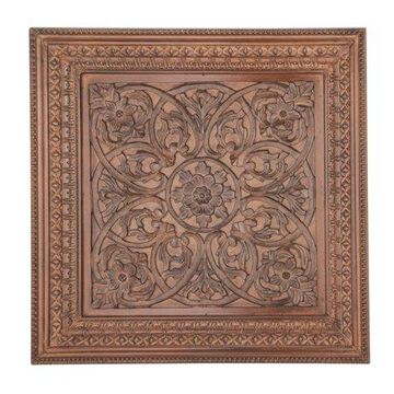 Decmode Traditional 47 X 47 Inch Carved Wooden Wall Panel