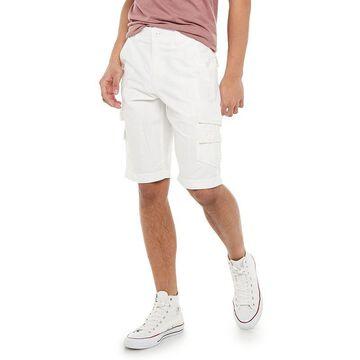 Men's Urban Pipeline Stretch Fine Faille Ultra Flex Cargo Shorts, Size: 30, White