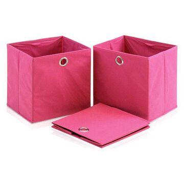 Furinno Storage Organizer, 3-Piece, Pink