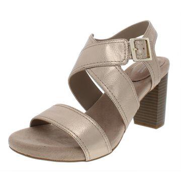 Giani Bernini Womens Janett Faux Leather Stacked Heel Dress Sandals