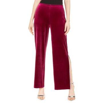 Msk Embellished-Trim Velvet Pants