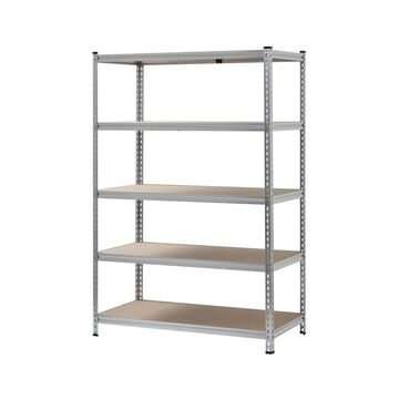 5-Shelf Boltless Aluminum Shelving Unit