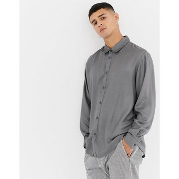 Another Influence Oversized Silky Shirt
