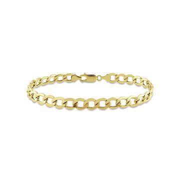 10kt Yellow Gold Men's Curb Chain Bracelet