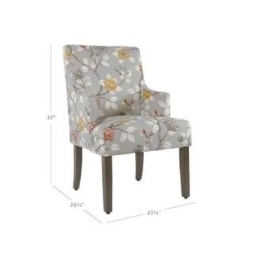 HomePop Meredith Dining Chair - Dove Floral (Grey)