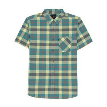 Junk Food Men's Shepard Short Sleeve Plaid Shirt