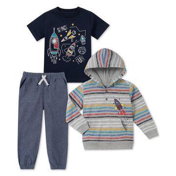 Baby Boys 3-Pc. Rocket T-Shirts & Jogger Pants Set