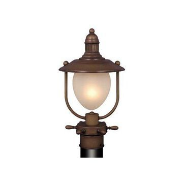 Vaxcel Lighting Orleans 1 Light Outdoor Post Light in Antique Red Copper