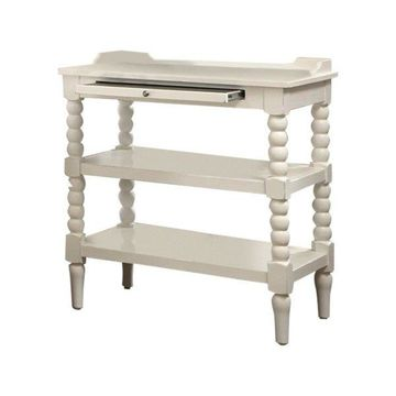 Liberty Furniture Harbor View II Open Night Stand in Linen Finish
