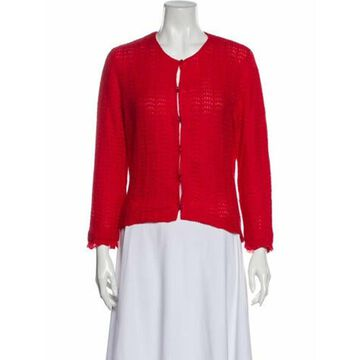 Cashmere Crew Neck Sweater Red