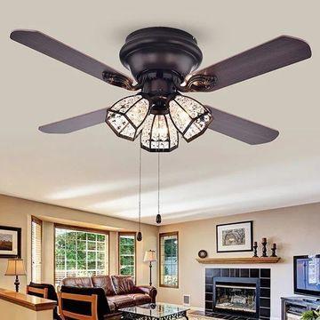 CFL-8173AB 42 in. Tarudor 3-Light Indoor Hand Pull Chain Ceiling Fan, Bronze