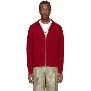 Casablanca Red Knitted Tracksuit Top