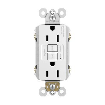 Legrand radiant 15-Amp GFCI Residential/Commercial Decorator Outlet, White (3-Pack) | 1597W3PKCC4