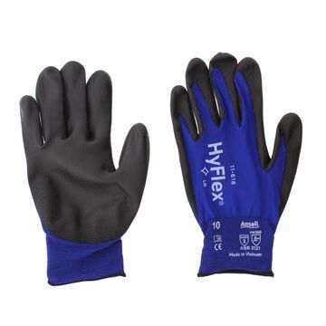 Ansell 11-618-10 HyFlex Nylon Multi-Purpose Gloves, Size 10, Blue, 12 Pairs
