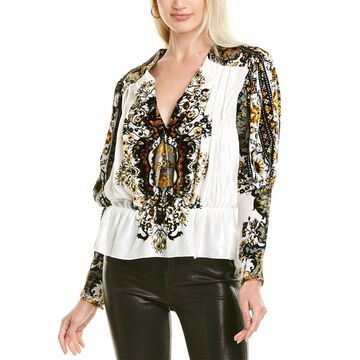 Mary Katrantzou Marianne Silk-Blend Top