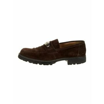 Suede Dress Loafers Brown