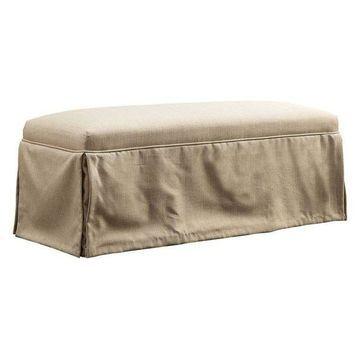 Furniture of America Dokka Bench in Beige