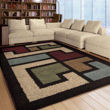 Orian Rugs Plush Shapes Mapped Floor Multi Area Rug