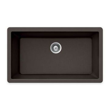 Houzer Granite Undermount Large Single Bowl Sink in Mocha