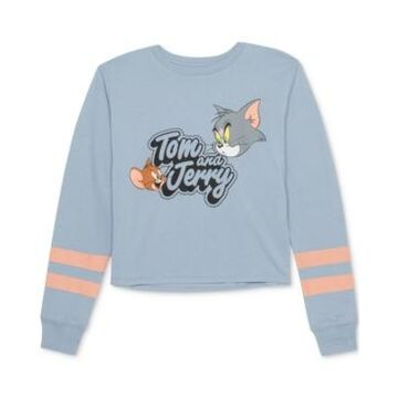 Warner Brothers Juniors' Tom & Jerry Graphic Print Top