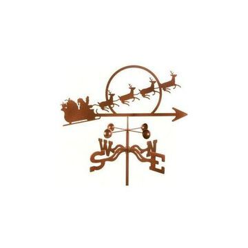 Ez Vane Santa With Sleigh Weathervane, Deck Mount