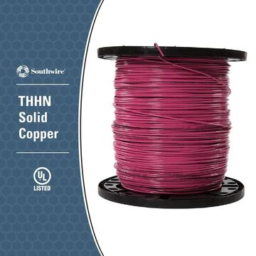 Southwire 2500-ft 12-AWG Pink Copper THHN Wire (By-the-Roll) | 25647905