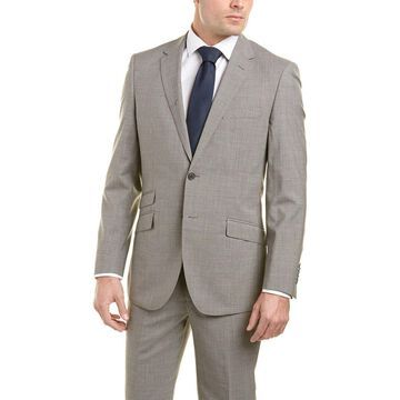 English Laundry Mens Wool Slim Suit With Flat Front Pant