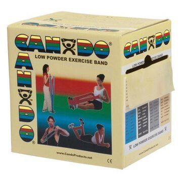 CanDo Low Powder Exercise Band, 50 yd Roll