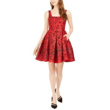 Taylor Sequined Fit & Flare Dress