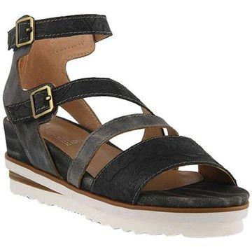 L'Artiste by Spring Step Women's Nolana Strappy Sandal Black Multi Leather