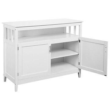 Goplus 20-in W x 36-in H x 45-in D White Door Base Configurable Stock Cabinet | HW53869