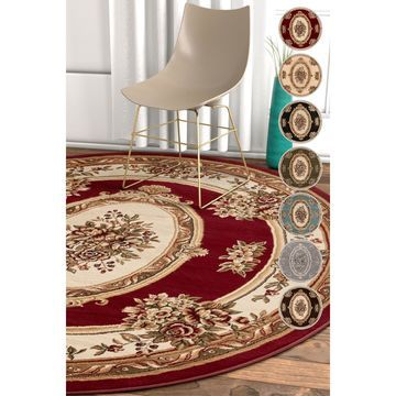 Well Woven Traditional Medallion Round Rug